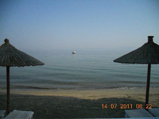Skala Prinou, Greece: Beach view from the hotel