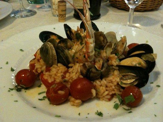 Trattoria di Cagnano: seafood risotto
