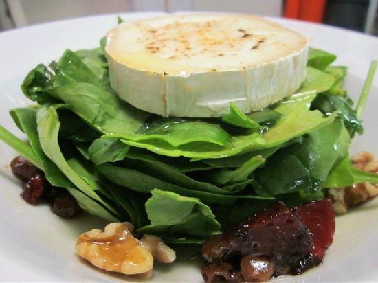 Gades : ensalada de espinacas con queso de cabra