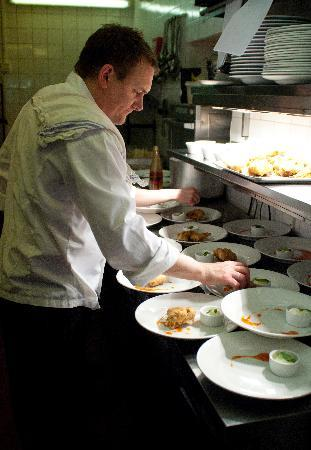 The White Lion: Kitchen in Full Swing