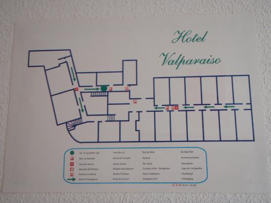 Hotel Valparaiso : Floor Plan