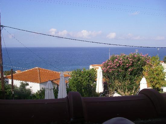 Sandy Bay: Utsikten från vär balkong.