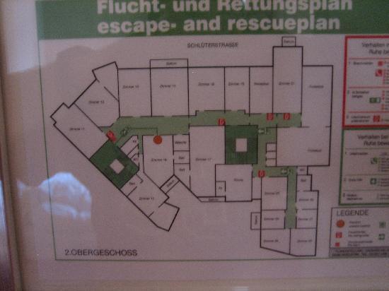 Hotel Am Dammtor: Etagenplan
