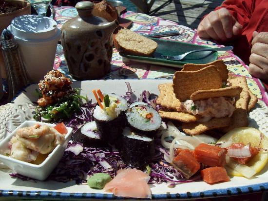 Halibut Cove, AK: The Saltry's tasting platter