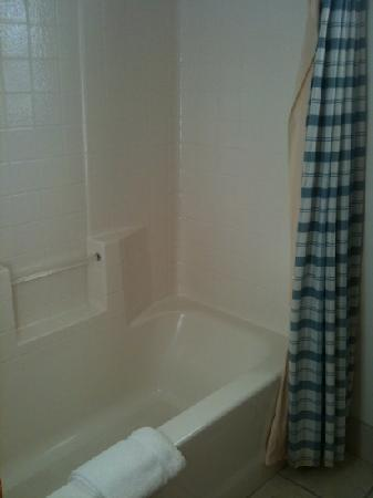 Lindberg Suites: shower is clean. no stains.