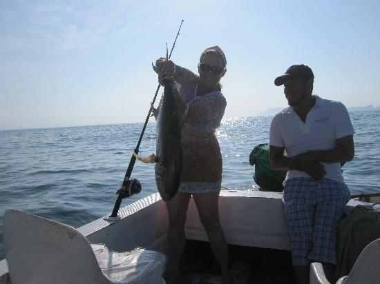 Villas San Sebastian: My 40 lb yellowtail!