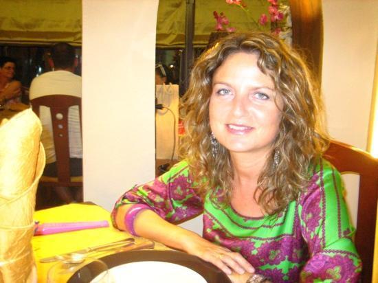 El Chaleco: Marta y yo en un maravilloso restaurante
