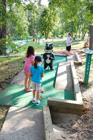 Pennyrile Forest State Resort Lodge: Kids enjoying the 18 hole mini golf course