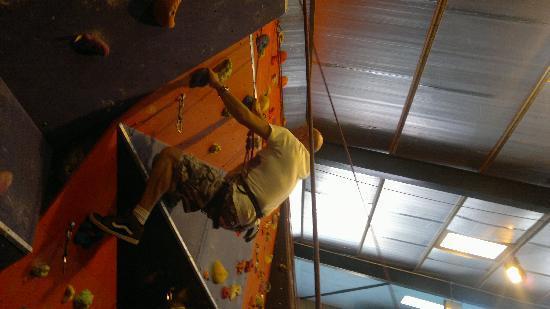 Keswick Climbing Wall: On the wall