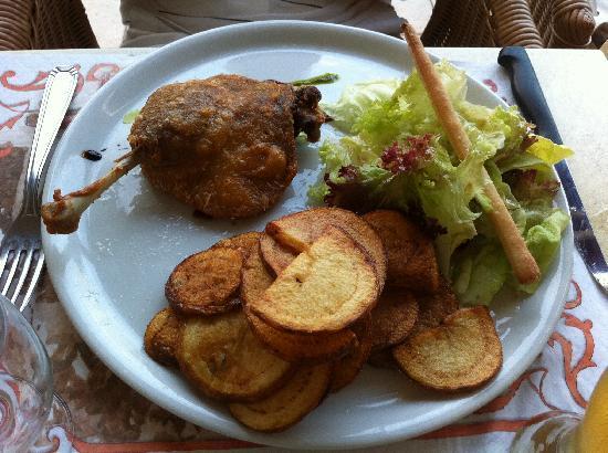 La Côte d'Argent : Confit et pommes sautées