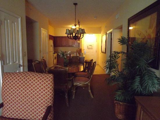 Floridays Resort: view of kitchen and dining area from living room