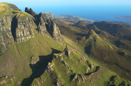 Portree, UK: Aerial picture of the pinnacles