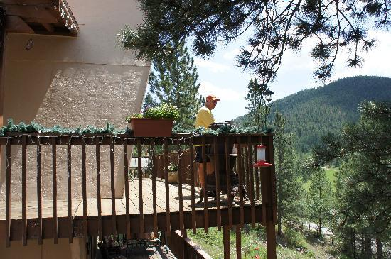 Kokopelli Inn: Looking out from our deck