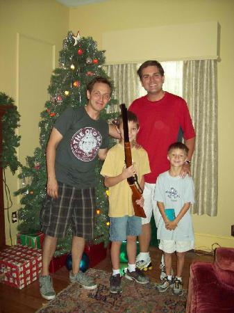 Randy Christmas Story.Ian Randy By The Tree Picture Of A Christmas Story