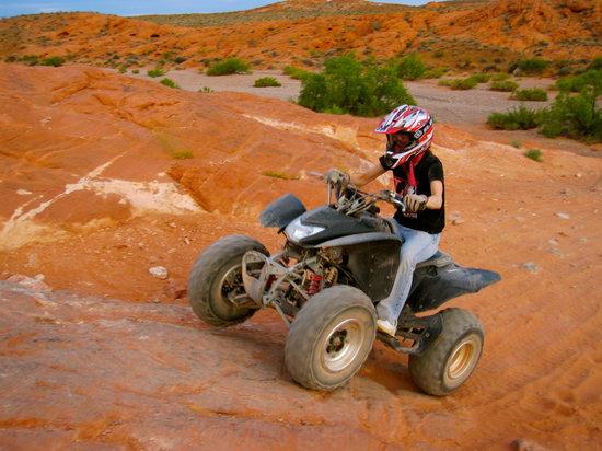 Adrenaline ATV Tours : Jenn making her way up the hill