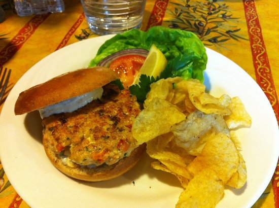 Nanci and Jimella's: seafood burger