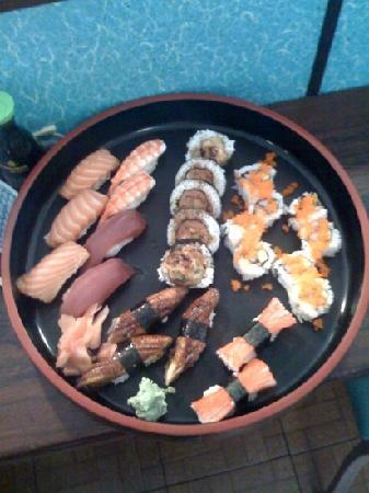 Jinya's: Salmon, Ebi, Tuna, Hot Roll, California Roll, Kani,Unagi