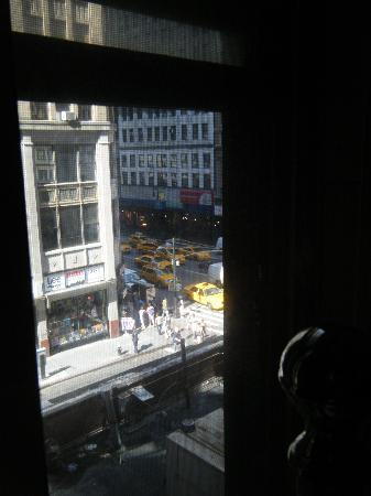 Manhattan Broadway Hotel: view from our window.  hotel is in the garment district. lots of fabric and trimmings stores