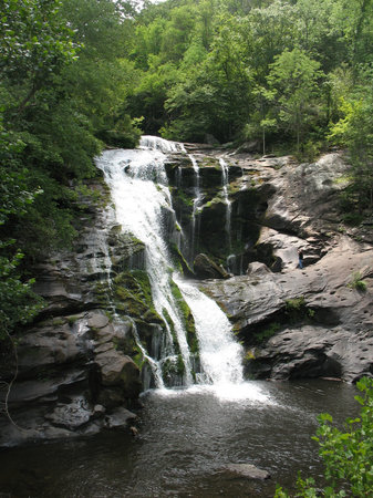 North Carolina Mountains, Kuzey Carolina: Bald River Falls