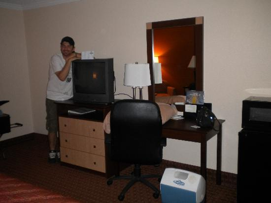 Days Inn Asheville/Tunnel Road & I-40: My husband trying to keep his eyes open after a long trip