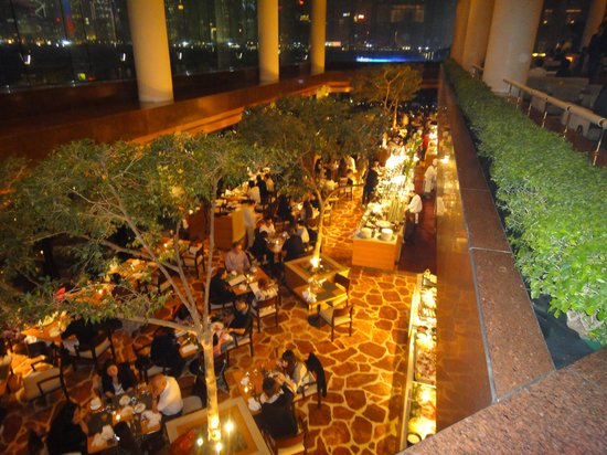 Harbour Side Restaurant: The Harbourside from the Mezzanine Lounge