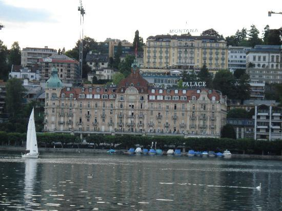 Palace Luzern: Hotel as viewed from a cruise on Lake Lucerne