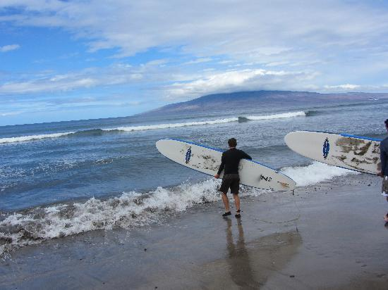 Paia, Hawái: excited to get in the water