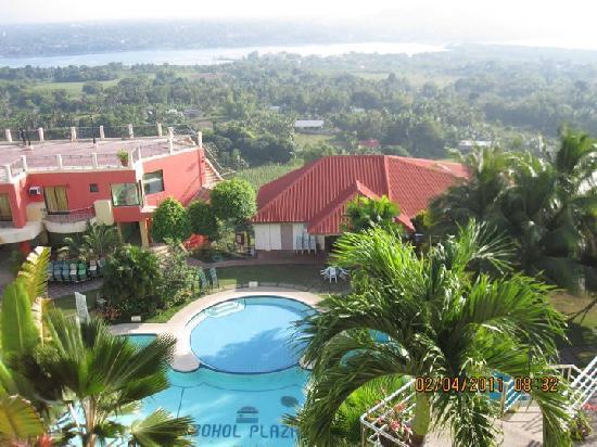 Bohol Plaza Resort: View from Alwen's Cafe Al Fresco