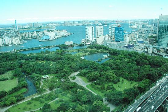 Conrad Tokyo: View from our room of Hamarikyu Gardens