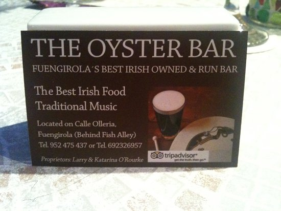 The Oyster Bar : contact details