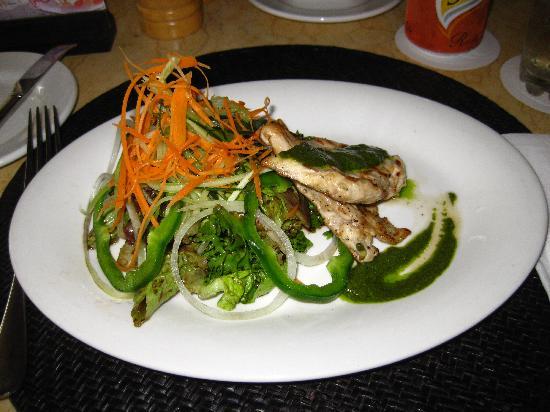 The Camakila Legian Bali: Grilled Chicken Salad from Azaa