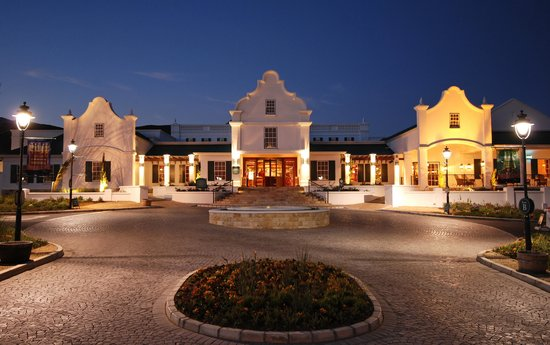 Worcester, South Africa: Golden Valley Casino - exterior at night