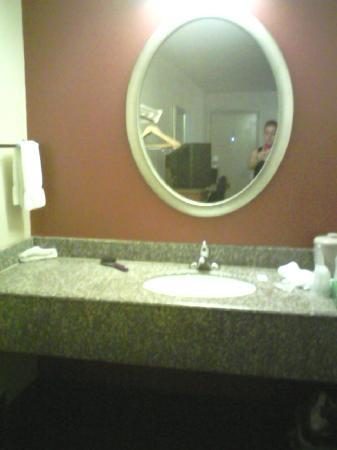 Red Roof Inn Cleveland-Medina: Updated bathroom - Nice mirror, plenty of light.