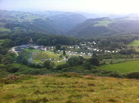 The Woodlands Caravan Park: View from the top of the hill
