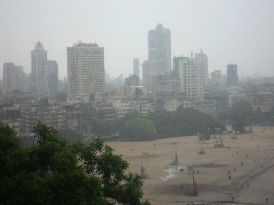 Malabar Hill: view of chowpatty beach & Arabian sea from the hill