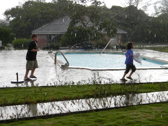 Love At First Sight Hotel: Sorry - best pic of pool was kids playing in the rain