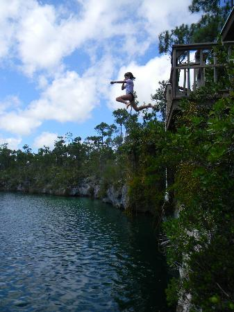 Love At First Sight Hotel : Jumping In!!  Captain Bill's Blue Hole