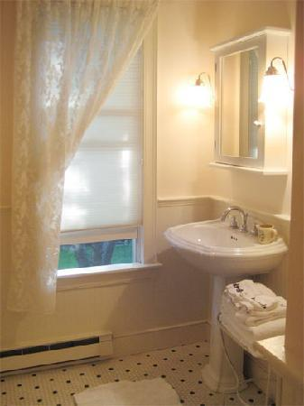 Lionel Champlin Guest House: Blue Room Bath w/ shower