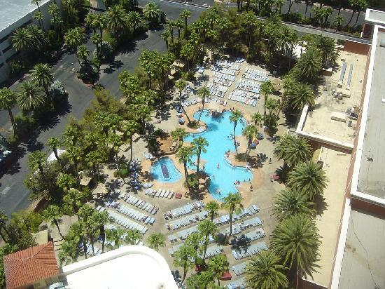 Pool view from our room picture of treasure island ti - Best swimming pools in las vegas strip ...