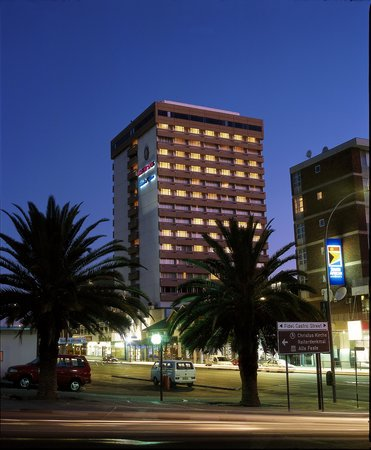 Kalahari Sands Casino: Exterior by Night