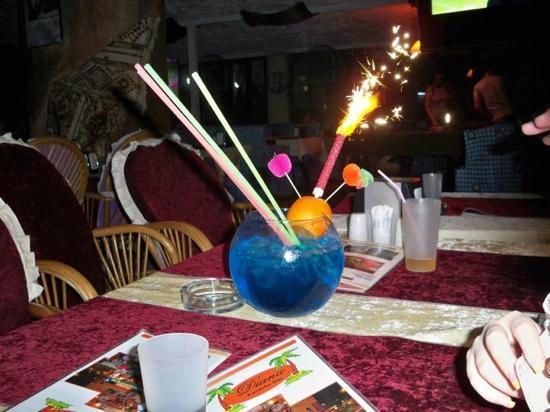 Diana Club Hotel: steak house fish bowl