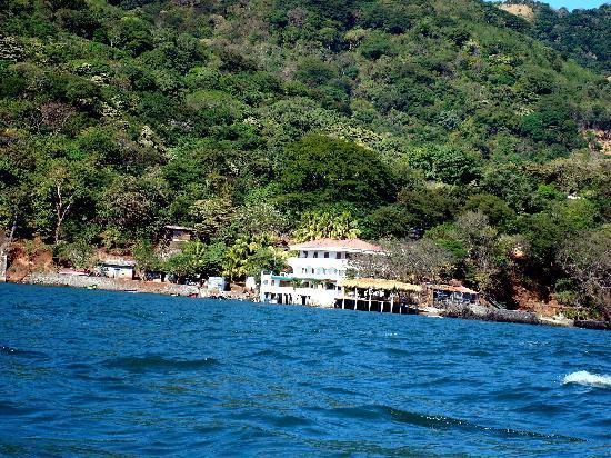 Meanguera del Golfo, السلفادور: L'hôtel vu de la mer