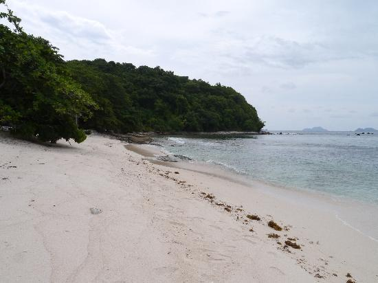 Mangenguey Island: A section of the beach