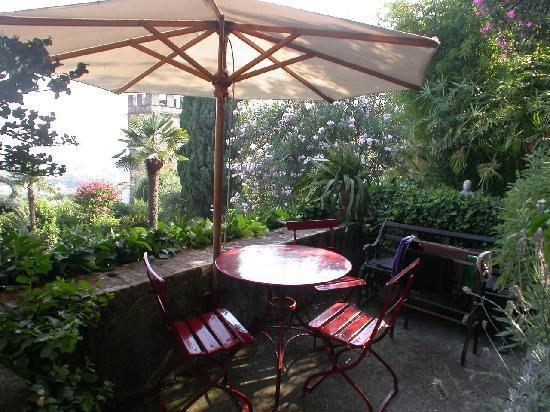Villa Sermolli: la terrazza dove abbiamo fatto colazione