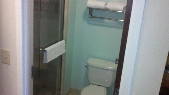 HYATT house Hartford North/Windsor: toilet and shower