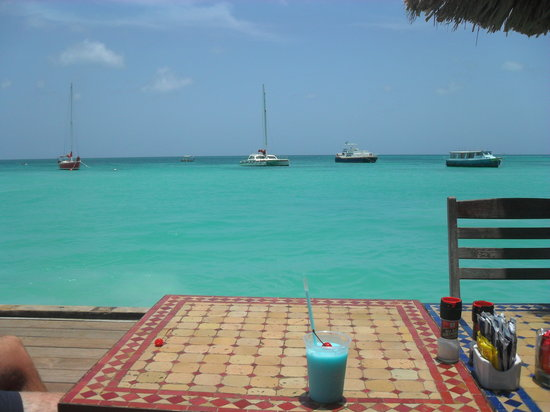 Bugaloe Beach Bar & Grill: views from the Bugaloe Bar