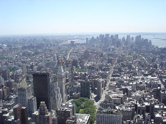Empire State Building: Blick auf Downtown