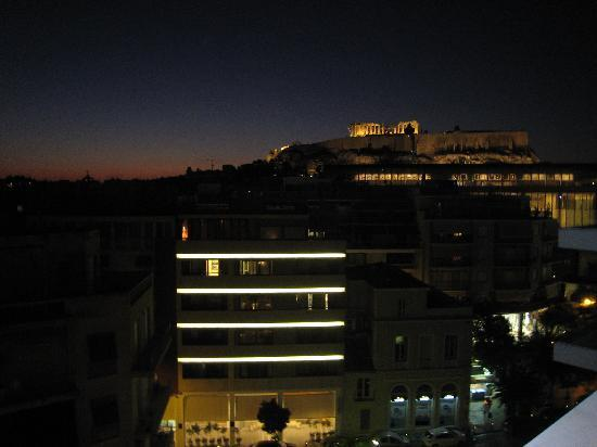 View of the Acropolis from the Hera Hotel's restaurant