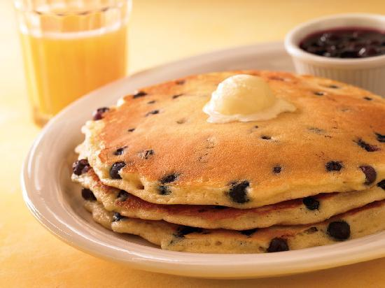 Brewster's Coffee Shop: My sister's blueberry pancakes!  Best pancakes in the WORLD!