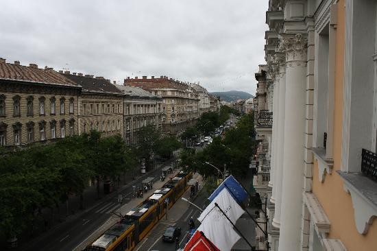 Corinthia Hotel Budapest: view from balcony